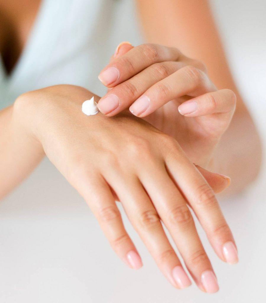 lotion, shingles, woman, hand, creme