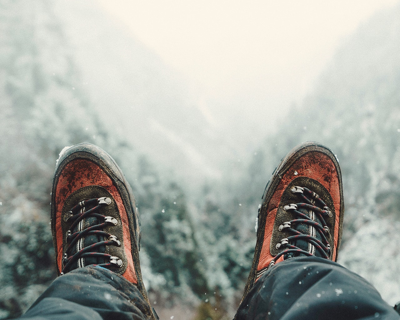 winter, snow, boots