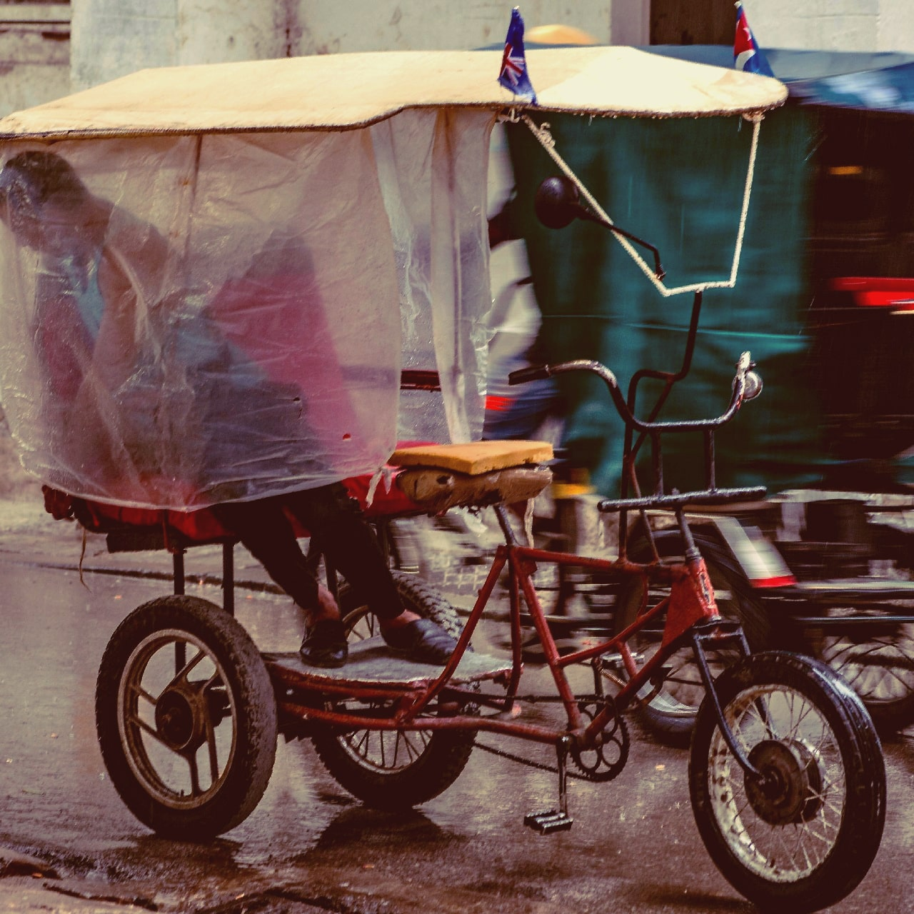 tricycle, bicycle