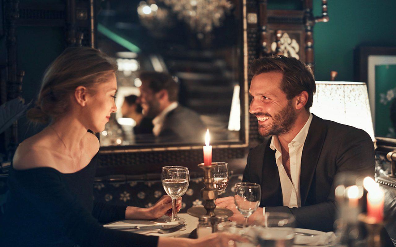 woman, man, date, dinner