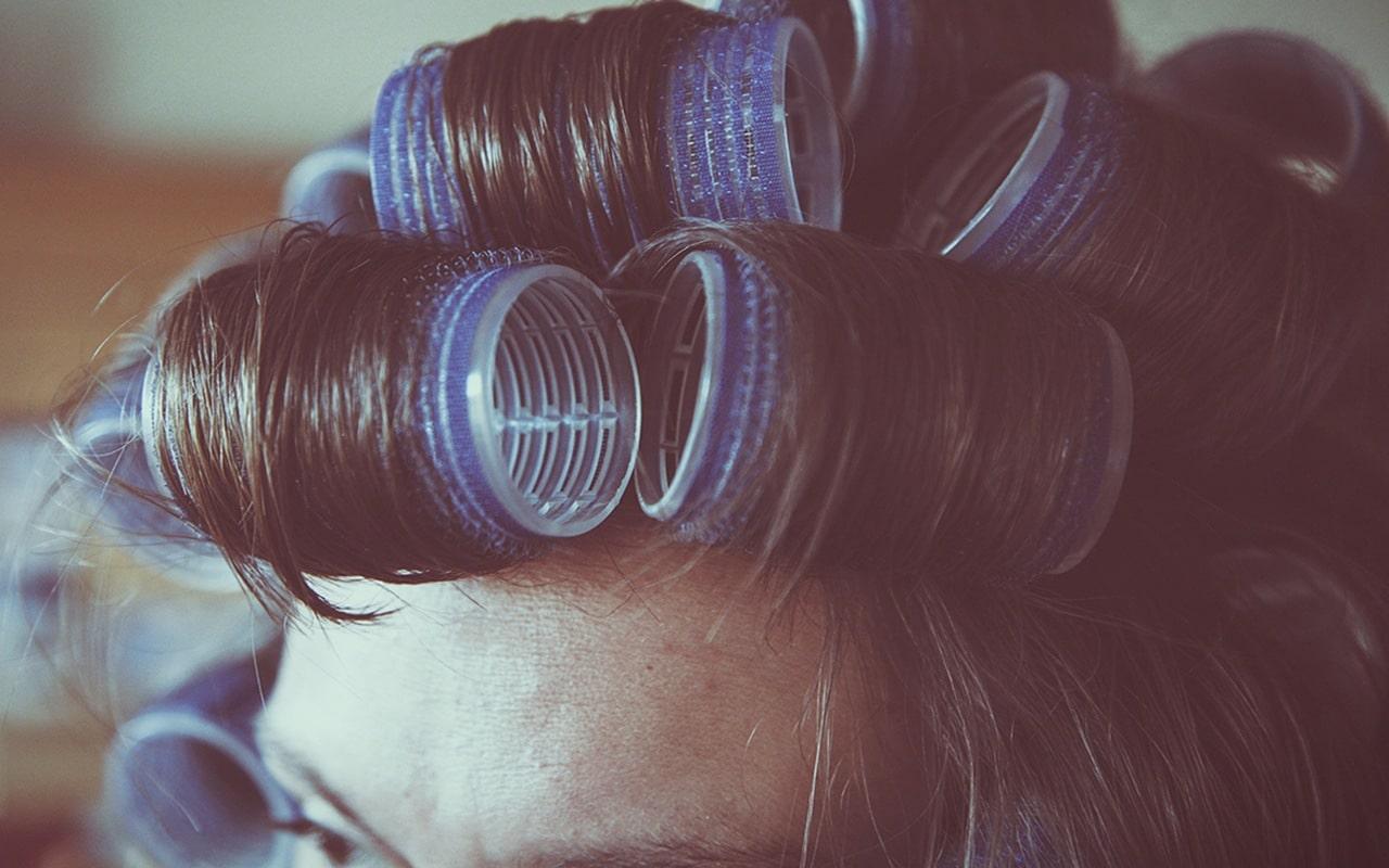 perm rods, hair