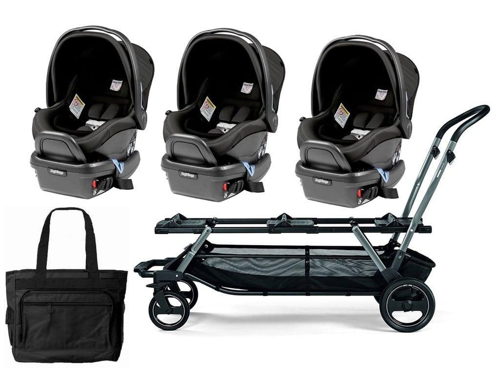 stroller, kids, triplet, triple