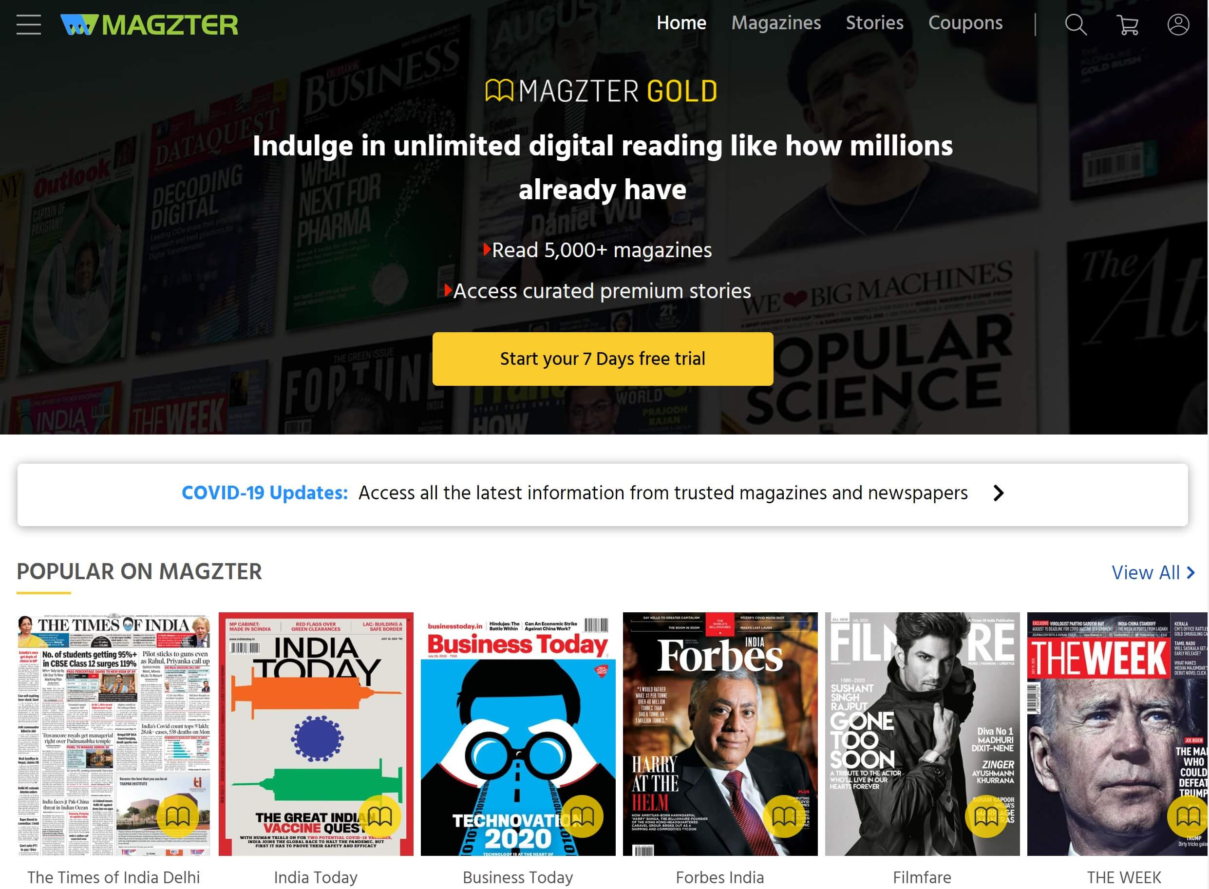 magzter, frontpage, website, magzter gold, magazine